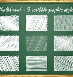 Chalk Graphic Styles vector image vector image