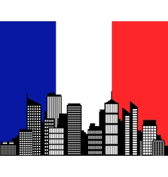 city and flag of france vector image