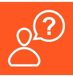 Customer Question vector image