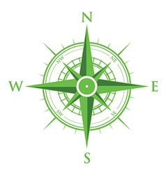 Green compass vector