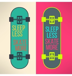 skateboard background with cool slogan in vector image vector image