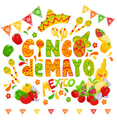 cinco de mayo celebration festive clipart vector image