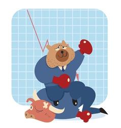bearwin thumb vector image vector image