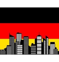 city and flag of germany vector image