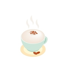 Cup of coffee isometric 3d icon vector image