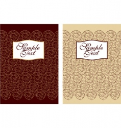 filigree cover design vector image vector image