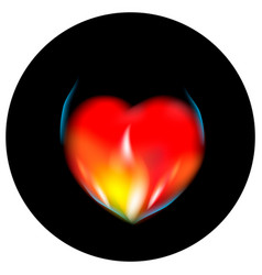 flame heart vector image