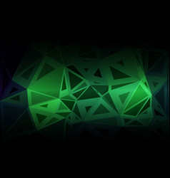 Glowing neon green random sizes low poly vector