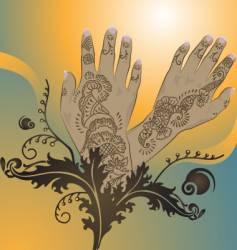 henna designs vector image vector image