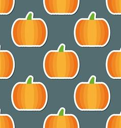 Pumpkin pattern seamless texture with ripe vector