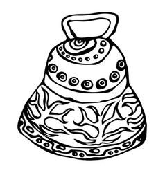 silver wedding bell ship bell church bell ink vector image