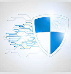 abstract protection concept of digital vector image vector image