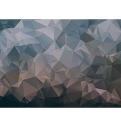 Dark abstract background polygon vector image vector image