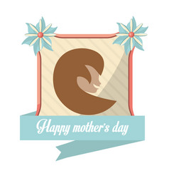 Happy mothers day card woman figure vector