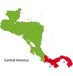 Panama map vector image