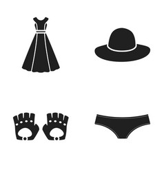 panties gloves dress hat clothing set vector image