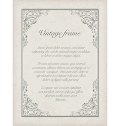 Vintage frame template vector