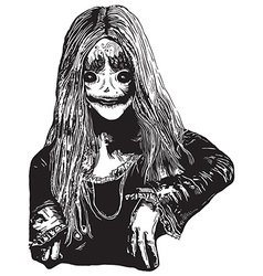 Zombie Girl An hand drawn vector image