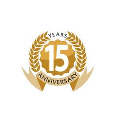 15 years ribbon anniversary vector
