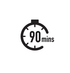 90 minutes timer stopwatch or countdown icon time vector