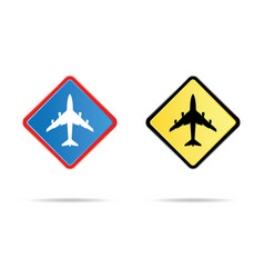 airport road sign vector image