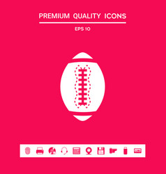 american football ball icon graphic elements for vector image