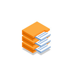 Archive with documents icon symbol vector