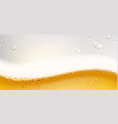background refreshing beer with foam vector image