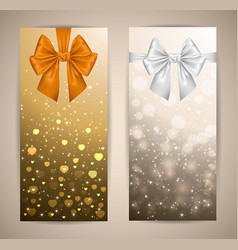 banners with bows vector image