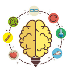 Brain and ideas design vector