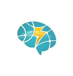 Brain science technology logo vector