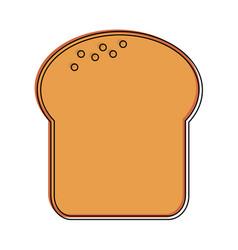 Bread slice pastry icon image vector