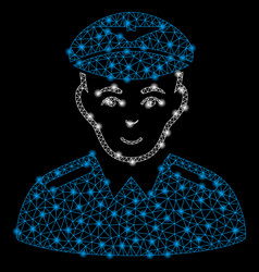 bright mesh wire frame aviator with flash spots vector image
