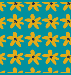 bright seamless pattern with daisy flowers on vector image