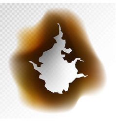 brown hole with burnt borders vector image