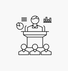 business conference convention presentation vector image