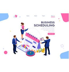 Business tasks schedule concept vector