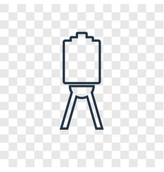 Canvas concept linear icon isolated on vector