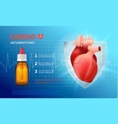 Cardio anti arrhythmic poster vector