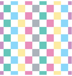 Checkered square seamless background vector