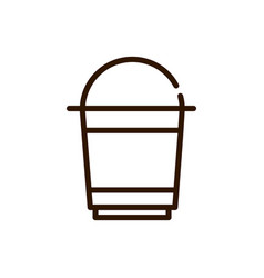 coffee cup disposable line design vector image