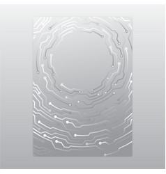 creative concept metal silver scheme vector image