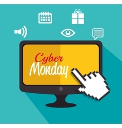 Cyber monday computer icons media vector