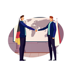 Diplomacy flat composition vector