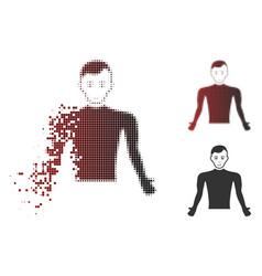 dispersed pixel halftone guy body icon vector image