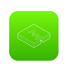 earth crack icon green vector image