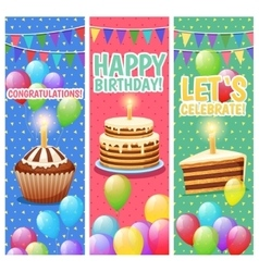 Festive Colorful Celebrations Vertical Banners Set vector