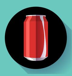 Flat cola can soda can cola vector