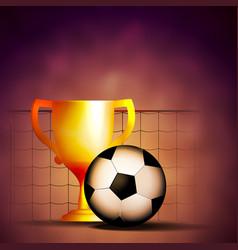 Football cup mache winner vector