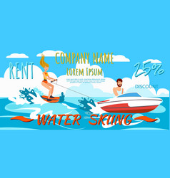 girl riding water skiing vector image
